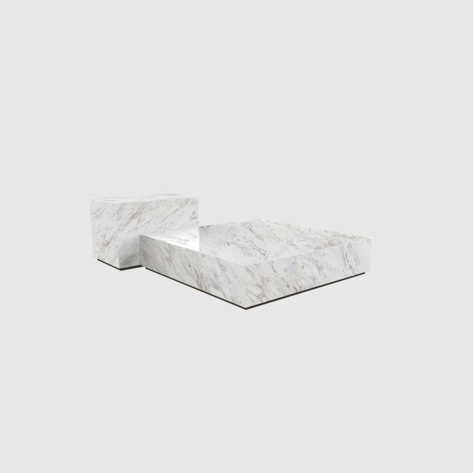 Edge set Ochiro marble coffee table by Maami Home