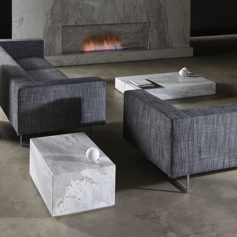Edge set Ochiro marble coffee table ambient by Maami Home