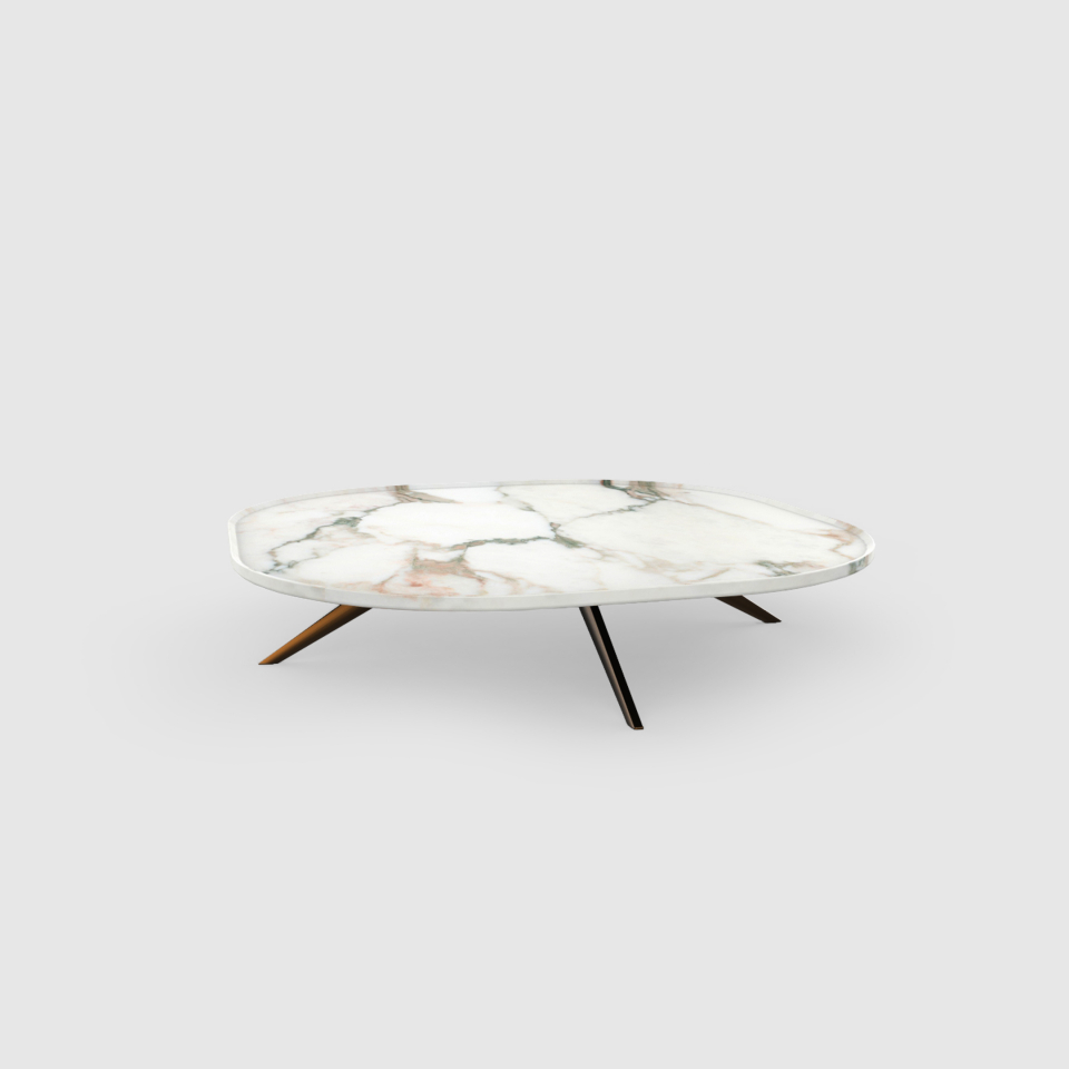 Plateia 800 Calacatta marble coffee table by Maami Home