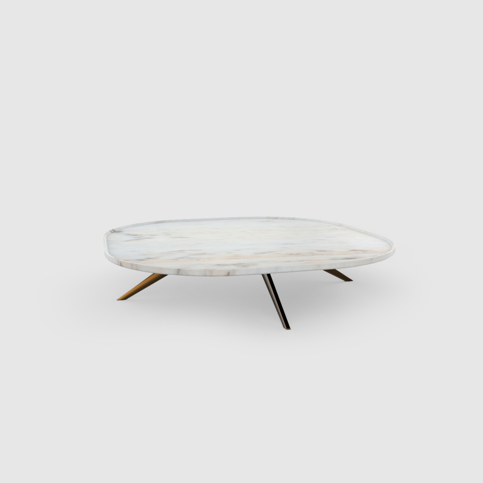 Plateia 800 Estremoz marble coffee table by Maami Home