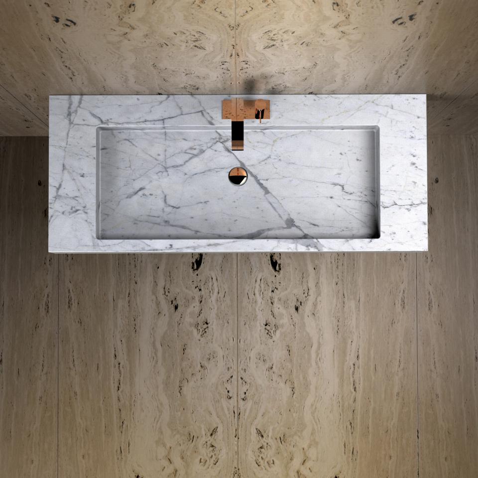 Iwo Jima washbasin by Maami Home